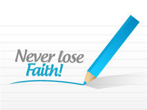 Never lose faith message illustration design Royalty Free Stock Images