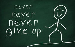 Never never never give up Stock Photo