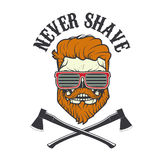 Never shave. Vector illustration. Royalty Free Stock Photo