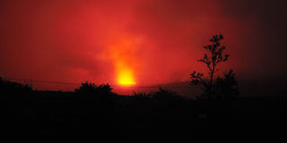 The Never Sleeping Kilauea Volcano Royalty Free Stock Photos