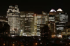 Never Sleeps. Section of Calgary's down town (Alberta Canada Stock Image