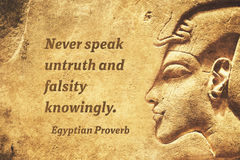 Never speak falsity EP Royalty Free Stock Photos