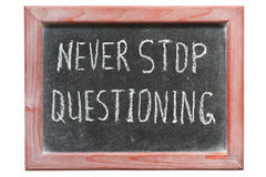 Never stop question Royalty Free Stock Images