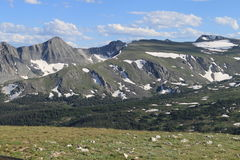 Never Summer Mountain Range. On Trail Ridge Road looking over at the Never Summer Range Royalty Free Stock Photos