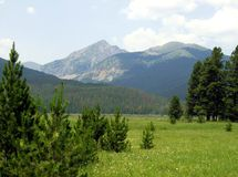 Never Summer Mountains, Rocky Mountain National Pa Stock Photo