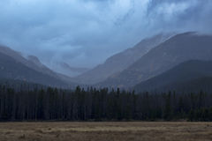Never Summer Wilderness. View of Never Summer Wilderness area from Rocky Mountain National Park, Colorado Stock Photos