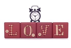 Never too late for love. Studio cutout Royalty Free Stock Image