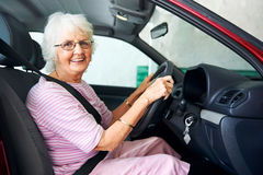 Never too old to drive Royalty Free Stock Photos