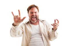 Never Too Old To Rock Royalty Free Stock Photography