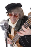 Never too old to rock and roll Stock Photo