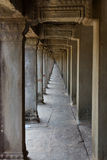 Neverending walkway at Angkor Wat Stock Images