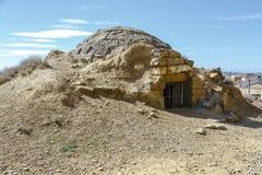 Nevero obok Sadaba kasztelu w Saragossa, Hiszpania zdjęcie stock