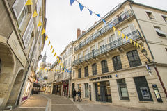 Nevers, Bourgogne, France. Nevers is the prefecture of the Nièvre department in the Bourgogne-Franche-Comté region in central France. It was the principal city Royalty Free Stock Photography