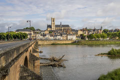 Nevers, Bourgogne, France. Nevers is the prefecture of the Nièvre department in the Bourgogne-Franche-Comté region in central France. It was the principal city Stock Photos