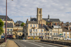 Nevers, Bourgogne, France. Nevers is the prefecture of the Nièvre department in the Bourgogne-Franche-Comté region in central France. It was the principal city Royalty Free Stock Images