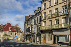 Nevers, Bourgogne, France. Nevers is the prefecture of the Nièvre department in the Bourgogne-Franche-Comté region in central France. It was the principal city Stock Photography