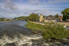 Nevers Bourgogne, Frankrike Arkivbild