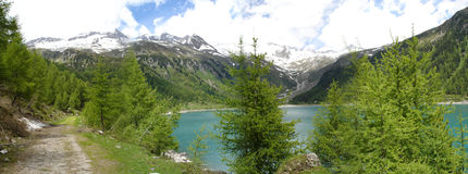 Neves Dam in South Tyrol Royalty Free Stock Photos