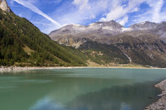Neves water reservoir, Italy Royalty Free Stock Image
