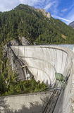 Neves water reservoir in northern Italy Stock Photography