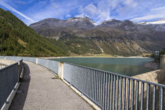Neves water reservoir in northern Italy Royalty Free Stock Photography