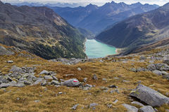 Neves water reservoir in northern Italy Stock Image