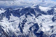 Nevi della molla di Adamello, Italia Immagine Stock