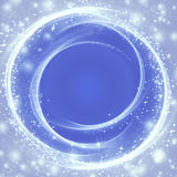 Nevi su fondo blu Immagine Stock
