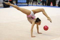 Neviana Vladinova individual rhythmic gymnast Stock Photography