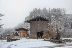 Nevicando nel Giappone Immagine Stock Libera da Diritti