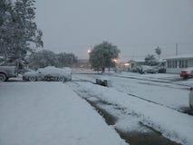 Nevicando nel tx di Corpus Christi fotografia stock libera da diritti