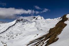 Nevichi sull'alta montagna al primo picco in switzerla di Grndelwald Fotografia Stock