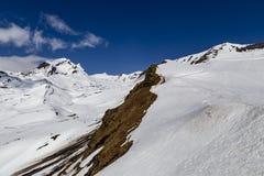 Nevichi sull'alta montagna al primo picco in switzerla di Grndelwald Immagini Stock Libere da Diritti