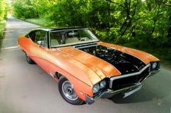NEVINOMYSSC, РОССИЯ - 13-ОЕ МАЯ 2016: Автомобили Внеофисная фотография старых американских автомобилей BUICK SKYLARK GS 350 1968s стоковая фотография