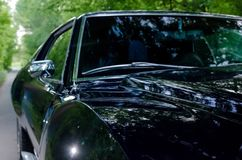 NEVINOMYSSC ROSJA, MAJ, - 13, 2016: Samochody Offsite fotografia starzy Amerykańscy samochody MC AMX darda 1972s maszyny obrazy royalty free