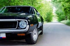 NEVINOMYSSC ROSJA, MAJ, - 13, 2016: Samochody Offsite fotografia starzy Amerykańscy samochody MC AMX darda 1972s maszyny fotografia stock