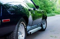 NEVINOMYSSC ROSJA, MAJ, - 13, 2016: Samochody Offsite fotografia starzy Amerykańscy samochody MC AMX darda 1972s tyły zdjęcie royalty free
