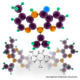 Nevirapine (Viramune) molecule structure Stock Photo