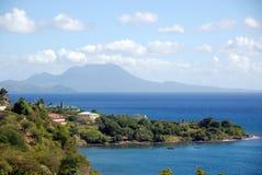 Nevis in den Wolken Stockfotos
