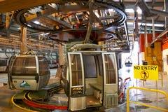 Nevis erstrecken sich Drahtseilbahnbasisstation Lizenzfreie Stockfotos