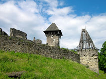 Nevitskiy castle near Uzhgorod, Ukraine Royalty Free Stock Photography