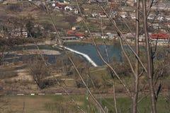 Nevitsky城堡在13世纪照片视图破坏Kamyanitsa村庄,在Uzhgorod,外喀尔巴阡州,乌克兰北部的12 km修造了 库存照片