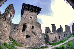 Nevitsky Castle ruins Stock Photo