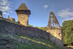 Nevitsky Castle ruins Stock Photography