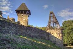 Nevitsky Castle ruins Stock Photography