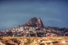Nevsehir cave city in Cappadocia, Turkey Stock Photo
