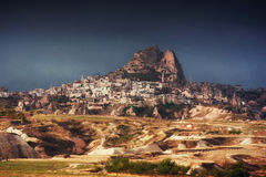Nevsehir cave city in Cappadocia, Turkey. Nevsehir cave city in Cappadocia. Beauty world. Turkey Stock Image