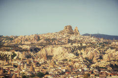 Nevsehir cave city in Cappadocia, Turkey. Nevsehir cave city in Cappadocia. Beauty world. Turkey Stock Photo
