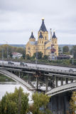 Nevski del St, catedral de alexander en Nizhny Novgorod, Federación Rusa Fotografía de archivo libre de regalías