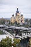 Nevski St, собор Александра в Nizhny Novgorod, Российской Федерации Стоковая Фотография RF